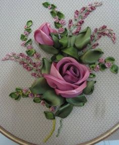 Wonderful Ribbon Embroidery Flowers by Hand Ideas. Enchanting Ribbon Embroidery Flowers by Hand Ideas. Embroidery Designs, Ribbon Embroidery Tutorial, Silk Ribbon Embroidery, Embroidery Stitches, Embroidery Patterns, Embroidery Books, Embroidery Supplies, Crewel Embroidery, Machine Embroidery