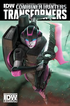 "Transformers SDCC-exclusive ""Combiner Hunters"" Arcee"