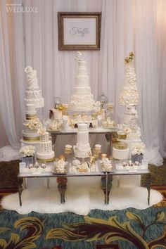 a gorgeous Wedding Cake stand at WedLuxe show 2014
