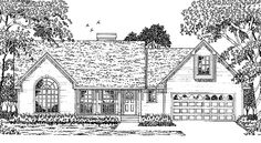 Country House Plan with 1577 Square Feet and 3 Bedrooms from Dream Home Source | House Plan Code DHSW46469