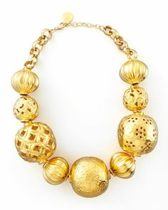 Golden Ball Necklace by Devon Leigh at Neiman Marcus.