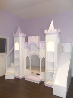 Nueva costumbre Princesa Eleanor's Castle Loft/Cama de cucheta/Playhouse
