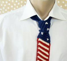 American Flag Necktie - Patriotic Knitted Tie - July 4th - Independence  Day Tie - Day America - USA Gift - Patriot America - Pafriotic tie by CuteGiftStudio on Etsy