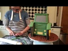 How to Make a 3D Tractor Cake - YouTube
