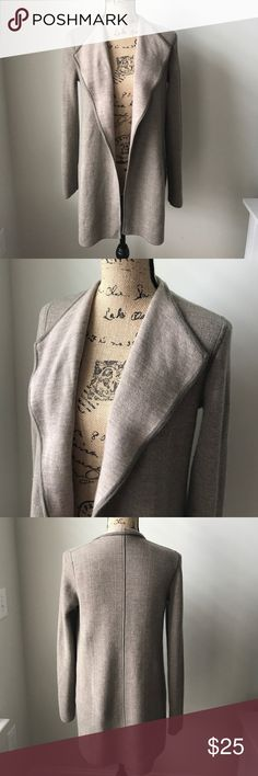 Talbots Wool Open Front Cardigan Beautiful cardigan!  Measurements -   AP to AP - 18in AP to Hem - 21.5in Shoulder to Hem - 29in Sleeve from AP - 19.5in  96% Merino Wool 4% Other Fiber Talbots Sweaters Cardigans