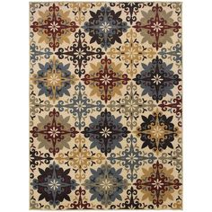 Oriental Weavers Stratton 6017A Ivory/Multi Floral Area Rug