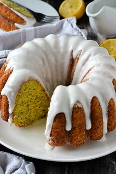 Glazed Lemon Poppy Seed Bundt Cake Mother Thyme, Lemon Poppy Seed Bundt Cake Jo Cooks, Lemon Chiffon Cake Jo Cooks Read More About This R. Poppyseed Bundt Cake Recipe, Lemon Bundt Cake, Pound Cake, Lemon Loaf, Rum Cake, Lemon Tarts, Loaf Cake, Mini Bunt Cake Recipes, Poppy Seed Bundt Cake