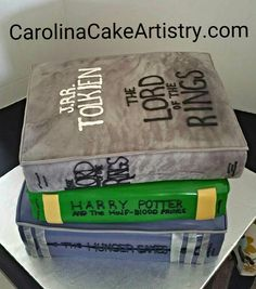 Stack of books Grooms Cake!