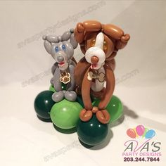 Advance Dog Twisted Balloon Creation, balloon twisting  #PartyWithBalloons