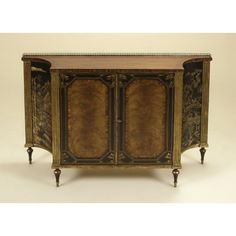 Maitland-Smith Rosewood Chiffonier With Antique Gold Gilding And Black Chinoiserie Motif