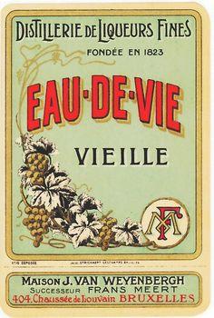 French liquor label 1920s
