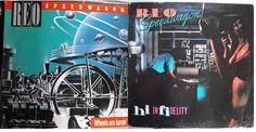 Two for One REO Speedway, Two Albums, Wheels are Turnin', Hi Infidelity, Vintage Record Albums, Vinyl LP, Classic Rock Music, Mid West Rock by VintageCoolRecords on Etsy