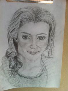 Mijn eerste potloodportret waar ik tevreden over ben. Veel dingen in kunnen oefenen. Mei 2014