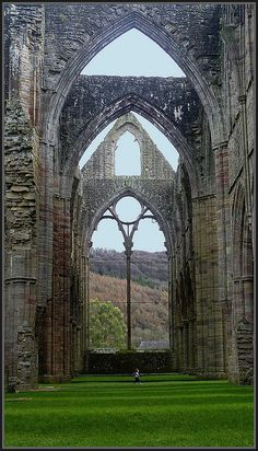 Tintern Abbey in south Wales. How small you'd feel in there. It's beautiful.