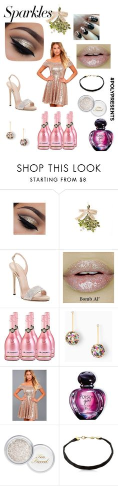 """""""#PolyPresents: Sparkly Beauty"""" by marissa-waters ❤ liked on Polyvore featuring beauty, Stella & Dot, LULUS, Christian Dior, Too Faced Cosmetics, Nouvel Heritage, contestentry and polyPresents"""