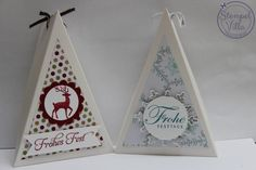 Dreiecks-Verpackung Slider Cards, Silhouette Curio, Envelope Punch Board, Magic Box, Diy Box, Stamping Up, Winter Christmas, Diy And Crafts, Christmas Cards