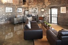 I'm a fan of the concrete floors. The Stacks loft in Atlanta