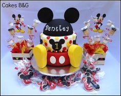 Mickey mouse birthday cake - by cakesbg @ CakesDecor.com - cake decorating website