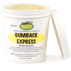 A banana-nut smoothie: Scrub your whole body soft with handfuls of exfoliating ground almonds in Gumback Express.