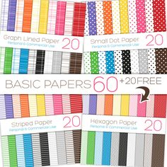 $3 Use these papers in ALL of your personal & commercial projects! Here are a few ideas: Digital Scrapbook pages, Card and Print Design, Website and Blog backgrounds.. and much more!