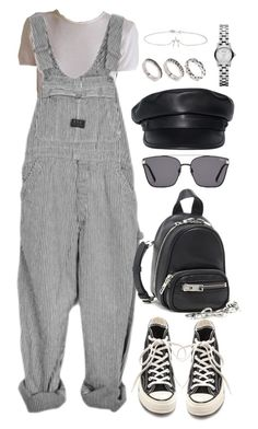 """""""Untitled #5533"""" by theeuropeancloset on Polyvore featuring Converse, Alexander Wang, Dsquared2, ASOS, Jennifer Meyer Jewelry and Marc by Marc Jacobs"""