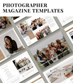Attract and book your dream clients with a beautifully designed welcome magazine. Photography Price List, Free Photography, Wedding Photography, Create A Magazine, Photography Templates, Photoshop Design, Magazine Template, Magazine Design, Brochures