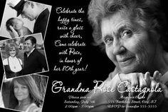 Black and White 80th Birthday Invitations Ideas