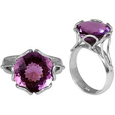 Sterling Silver Faceted Amethyst Ring (Indonesia)  43