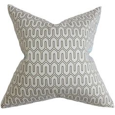 Aleeza Gray 18 x 18 Geometric Throw Pillow