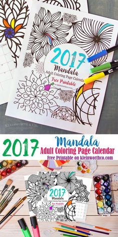 Add your own personality to your schedule & stretch your creativity in the new year with this 2017 Mandala Adult Coloring Page Calendar FREE PRINTABLE!