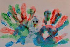 Hand Print and Footprint Turkey