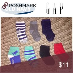 Old Navy & Gap 12-24 Month 7 Pairs Sock Bundle All Like New, Old Navy & Gap 12-24 Month 7 Pairs Sock Bundle, Smoke & Pet Free Home Old Navy Accessories Socks & Tights