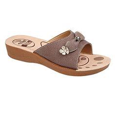 Damen Keil Ferse Strand Sandale Damen lässig Sommer Maultier Sandale Schuhe Größe, [Brown], [UK 3 / EU 36] - http://on-line-kaufen.de/private-brand/36-eu-3-uk-damen-keil-ferse-strand-sandale-damen