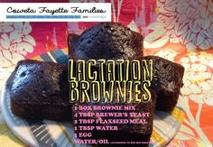 Lactation Brownies and other recipes to increase milk supply. #breastfeeding