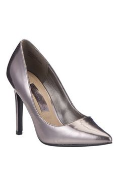 Silver Stiletto Court Shoes