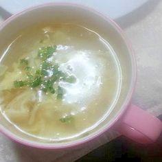 油揚げとえのきと大根のとろみ中華卵スープ