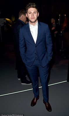In the navy: Niall Horan sported a navy blue suit at the star-studded bash