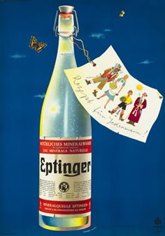 Herbert Leupin Poster: Eptinger - Rezept fur Jedermann! (It's healthy for everyone!)