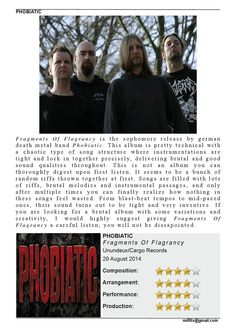 "Phobiatic  ""Fragments Of Flagrancy"" Review (Milfits 'zine, issue#3)"