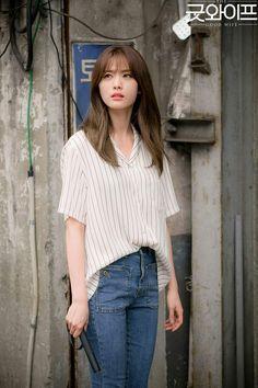 the good wife korean outfit - Ecosia Medium Hair Cuts, Medium Hair Styles, Short Hair Styles, The Good Wife Korean, Haircuts For Long Hair, Hairstyles Haircuts, Korean Hairstyles, Im Jin Ah, Aesthetic Hair