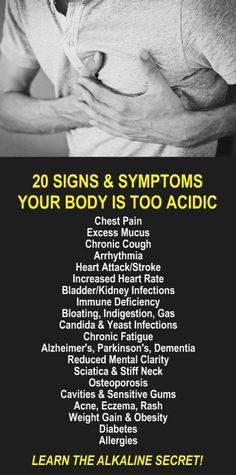 20 Signs & Symptoms Your Body Is Too Acidic. Do you need to detox and lose weight to preserve your health? Learn about Zija's alkaline rich, antioxidant loaded, weight loss products that help your body detox, increase energy, burn fat, and lose weight more efficiently. Get our FREE weight loss eBook with suggested fitness plan, food diary, and exercise tracker. Look and feel your best with Zija! LEARN MORE #Acidosis #Signs Symptoms