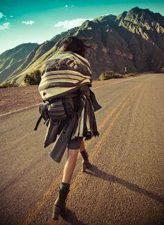 Hitchhiker Chic- Vogue Brazil, Peruvian shoot