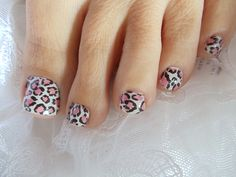 Pink & White Leopard Print Water Transfers/Wraps
