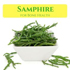 Samphire is useful for detoxifying the body, improving digestion, losing weight and protecting the immunity. Other benefits include good sleep, and improved circulation. Sources Of Calcium, Sea Asparagus, Edible Seaweed, Sea Vegetables, Healthy Aging, Bone Health, Eating Habits, Organic Skin Care