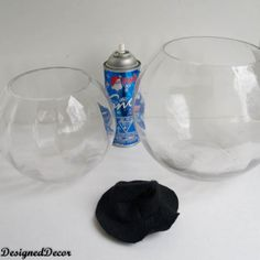 supplies for a Glass Bowl Snowman