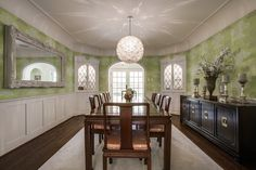 This #diningroom is at 5334 Waneta Drive in the Greenway Parks area of #Dallas. At the time of this pinning, the #luxury home was being marketed by Stephen Collins of Dave Perry-Miller Real Estate. @shoot2sell