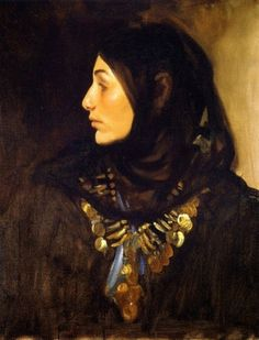John Singer Sargent (1856-1925), Egyptian Woman (also known as Coin Necklace)