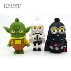 Cartoon Easy Learning USB 2.0 Star Wars USB Flash Drives Pendrives 64GB 32GB 16GB 8GB 4GB Pen Drive Memory Stick Gift