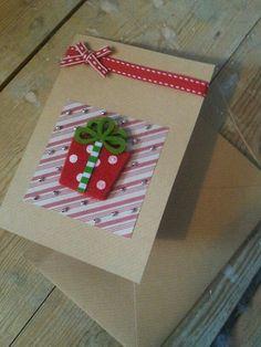 Christmas Card  Handmade Present by CraftyCowCards on Etsy, £4.00