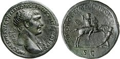 NumisBids: Numismatica Varesi s.a.s. Auction 65, Lot 184 : TRAIANO (98-117) Sesterzio. D/ Busto laureato R/ L'Imperatore, a...